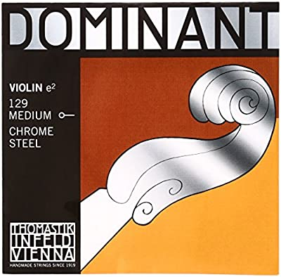 Dr Thomastik-Infeld 129 Dominant Violin String, Single E String, 129, 4/4 Size, Chrome Steel, Ball End
