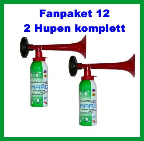 2 Marco Druckluftfanfaren, die Top Hupe---kein billiges China Produkt---Fanfare Tröte Gashupe Gasfanfare Gaströte