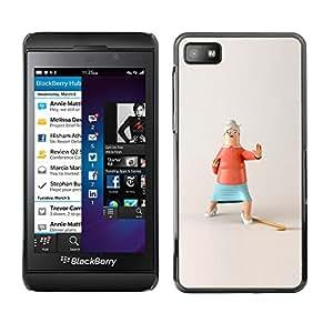Shell-Star Arte & diseño plástico duro Fundas Cover Cubre Hard Case Cover para Blackberry Z10 ( Action Grandma Funny Stop Kung Fu )