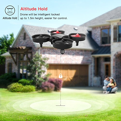 Drone, Metakoo M1 Mini Drone 2.4GHz 6-Axis Double Battery for Beginners and Kids Drone with 360°Full Protection, Altitude Hold, 3D Flips, Headless Mode, 3 Speed Modes Functions by METAKOO (Image #3)