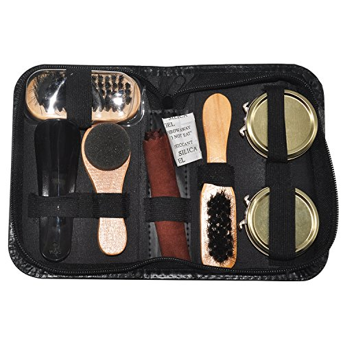 FineInno Travel Shoe Care Kit, Portable Shoes Polish Set Gift Kit (Option 1) by FineInno