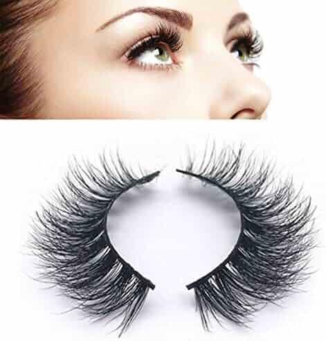 75c20c9fdfd DAODER 100% Siberian Mink Eyelashes Strip Natural Looking Fake Lashes  Reusable False Eyelashes 1 Pair