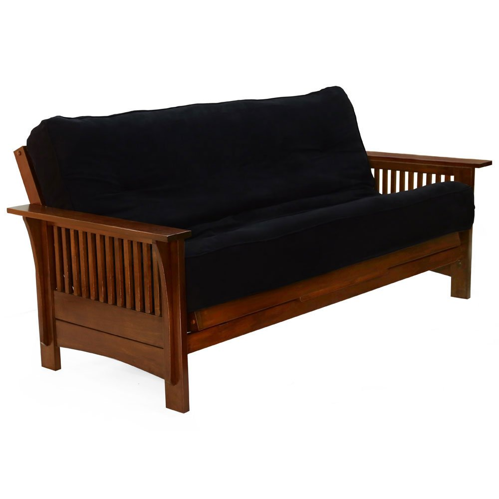 Optima Scale Autumn Queen Futon Frame in Black Walnut Finish Black Walnut by Optima Scale