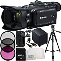 Canon VIXIA HF G40 Full HD Camcorder 11PC Accessory Bundle -Includes 64GB Memory Card + Replacement BP-827 Battery + AC/DC Rapid Home & Travel Charger + MORE - International Version (No Warranty)