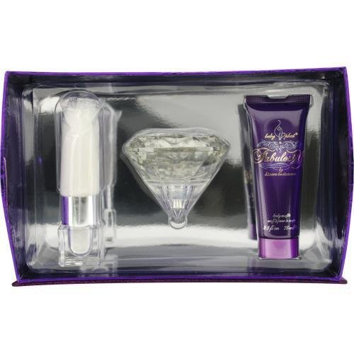 - BABY PHAT FABULOSITY by Kimora Lee Simmons Gift Set for WOMEN: EAU DE PARFUM SPRAY 3.4 OZ & BODY SOUFFLE 2.5 OZ & SHIMMER POWDER WAND .12 OZ & JEWELRY BOX by Baby Phat