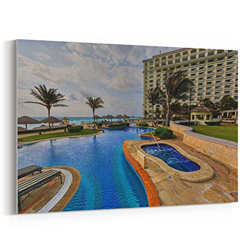 ing Pool - 24x36 Canvas Print Wall Art - Canvas Stretched Gallery Wrap Modern Picture Photography Artwork - Ready to Hang 24x36 Inch (Christmas Raffle Tickets)