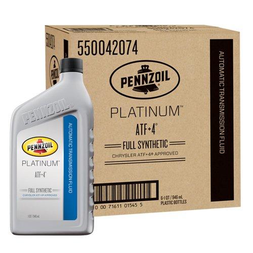Pennzoil 550042074-6PK Platinum ATF + 4  (Chrysler MS-9602) - 1 Quart (Pack of - Fluid Transmission Pennzoil