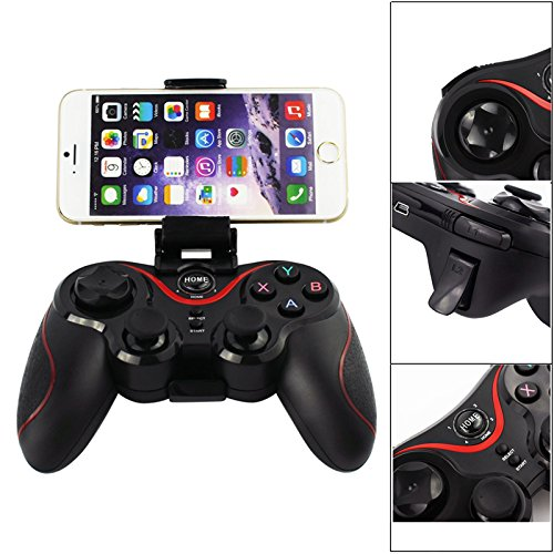 SQDeal Bluetooth Wireless Game Controller Joystick Gamepad for Android / iSO(Jail Break) Smartphones / Tablet PC / Computer Laptop (Use USB Cable) (Control Android)