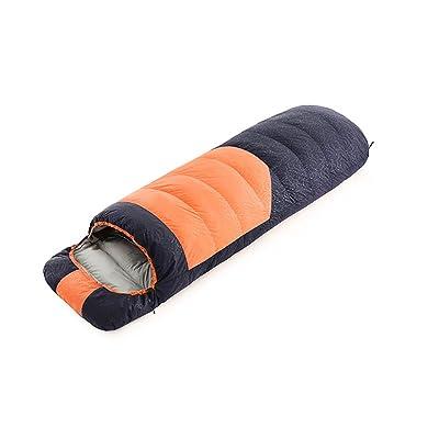 Vitalite de Professional Portable Imperméable Enveloppe Fermeture Éclair Camping Randonnée Sac de couchage avec capuche avec sac de transport, Orange/1000/R