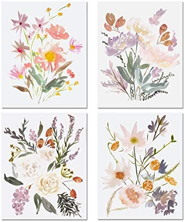 Kanora Watercolor Bouquets Wall Art Prints
