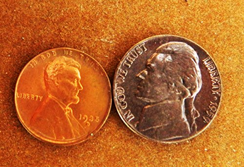 Red Bu Lincoln Cent Roll - Wheat Cent Red 1935 D Ch BU Early Year + 1959 Blue Roll Tone Ch BU Jefferson