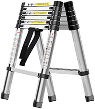 ZCF Escaleras de mano Escalera Telescópica, Multiuso Plegable Un Tapón de Pescado Escala de Aluminio Portable Escala Domestica Técnicas de Extensión Escaleras (Size : Style5): Amazon.es: Bricolaje y herramientas
