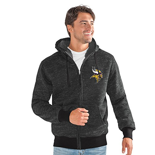 G-III Sports NFL Minnesota Vikings Discovery Transitional Jacket, 4X, Black from G-III Sports