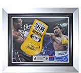 Signed Manny Pacquiao Cleto Reyes Pro Fight Glove Framed- Pacman - Autographed Boxing Gloves