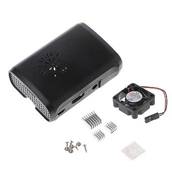 Yintiod Pi Box - Carcasa de ABS con módulo de ventilador para Raspberry Pi 3/2/b plus con disipador de calor de 3 ...