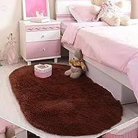 40 * 60cm de la felpa de la manta estera mágica Antideslizante Cojín dormitorio oval de alfombras tapetes Piso Puerta Mat