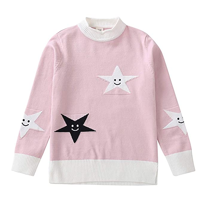 4294c0d109 CSSD Affordable Newest Stylish Baby Girls Winter Cute Sweater Kids Long  Sleeve Smiley Pentagonal Knit Sweater