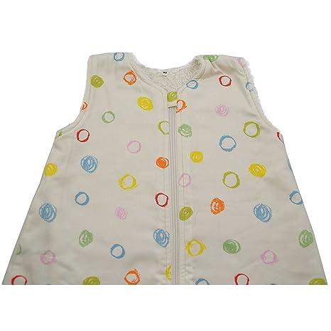 Cotonea, saco de dormir con mangas forro de felpa, 90 cm, diseño de