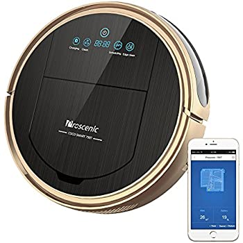 Proscenic 790T, 1500Pa,Robotic Vacuum Cleaner with APP & Alexa Voice Control, Visionary Map, Water Tank and Mopping, 12.99 x 3.54 x 3.54 in, Gold
