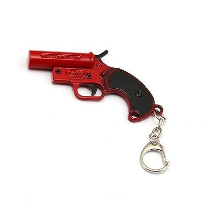 Mct12 Red Flare Gun Keychain Playerunknown S Battlegrounds Pubg