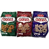 Stauffer's Holiday Cookies: Shortbread, Iced Gingerbread, White Fudge Shortbread, 12 Oz. Bags [1 of Each]