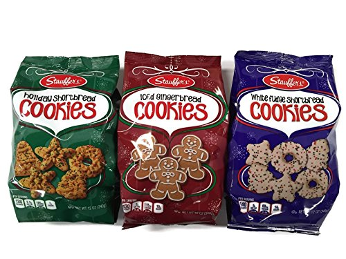 Stauffer S Holiday Cookies Shortbread Iced Gingerbread