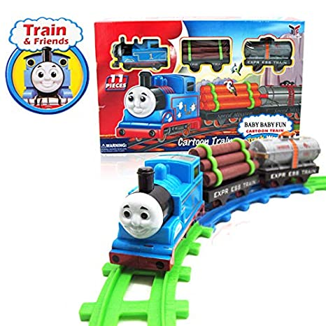 Buy Rianz Thomas And Friends Cartoon Toy Train Track Set With Sound