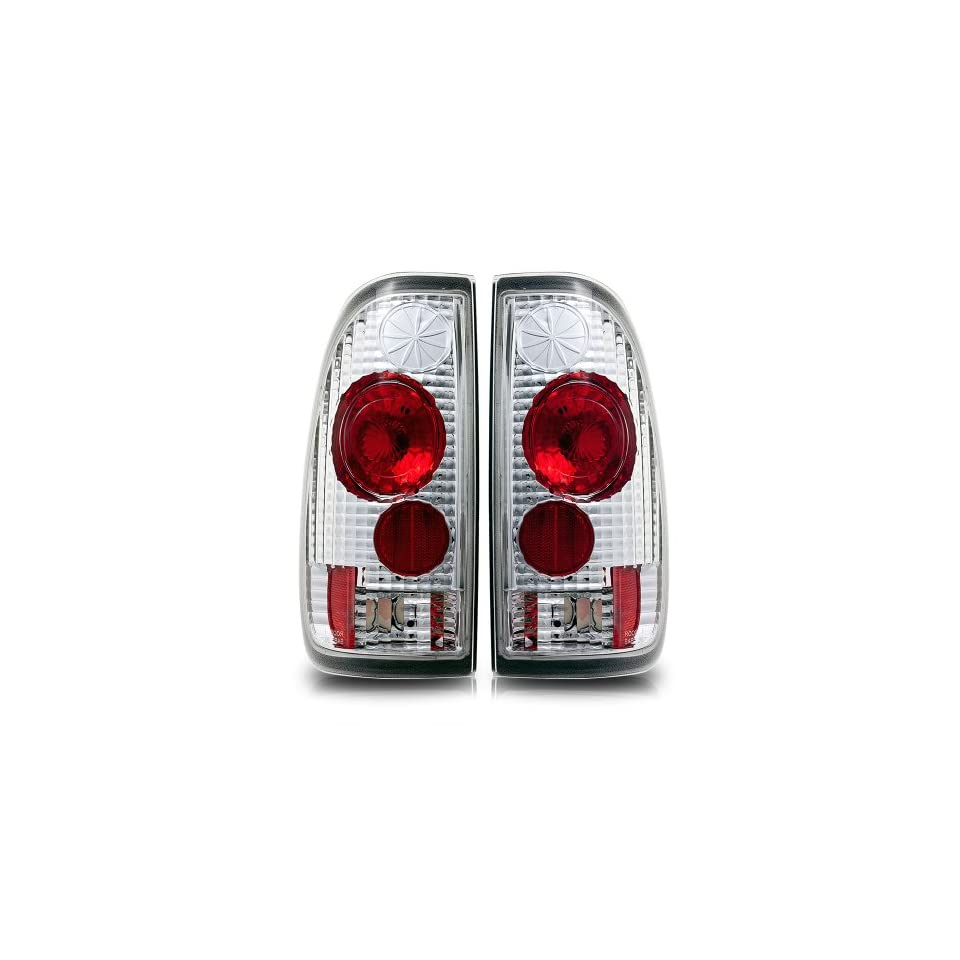 97 03 Ford F 150 State Side Altezza Tail Lights Chrome Housing / Clear Lens Pair