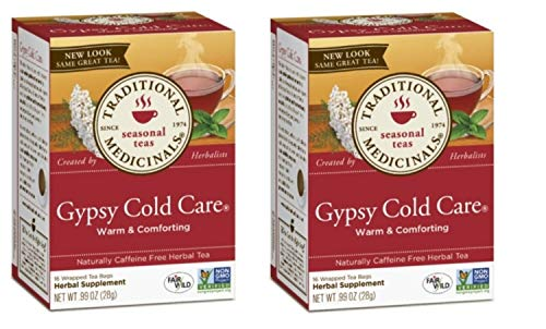 (Traditional Medicinals Seasonal Tea, Gypsy Cold Care, 16 CT (Pack of 2))