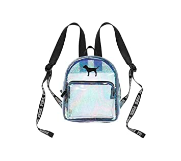 1f0168559a226 Victoria's Secret PINK Mini Backpack Clear Sparkly Glitter Glow