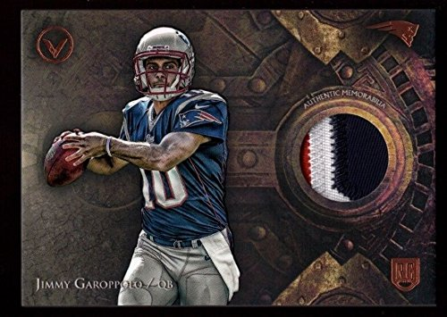 Jimmy Garoppolo Patriots Rookie 3 Color Jersey Logo Patch Rc Sp 2014 Topps Valor