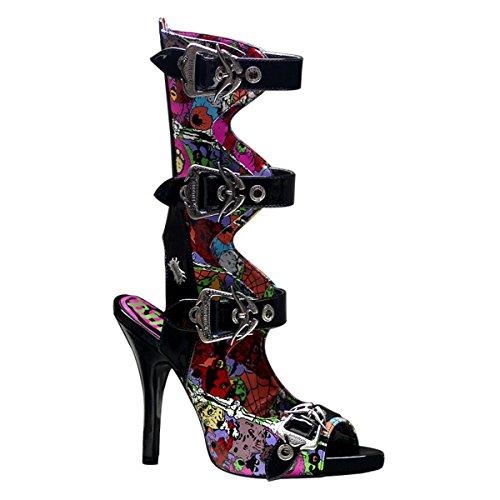 39 Demonia lack Mehrfarbig Stivali Donna Multicolore Eu qXXRwv4