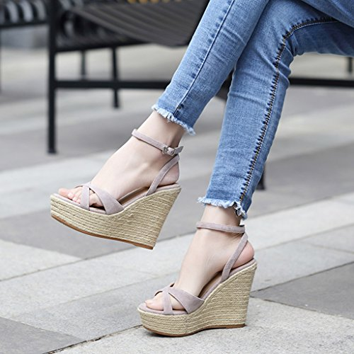 purple High Light Light Wedge Open Women's Color Shoes Toed Most Heels Summer 11cm Sandals Popular Purple Fashion 38 Size Uwp00