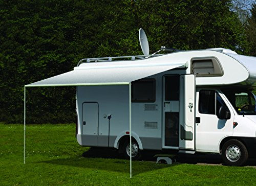 Carefree RV 351018D25 RV Trailer Camper Sun & Shade Freedom 2.5M Black/ Gray Dune Stripe White by Carefree RV