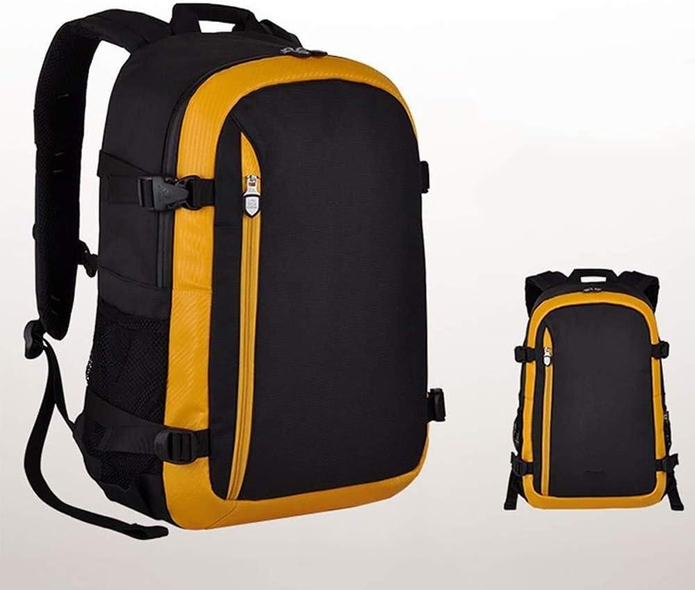 実用的 大容量の一眼レフカメラのバックパック、レンズと三脚の付属品のための専門の防水耐震性のカメラバッグ-30 * 19 * 45センチオレンジ