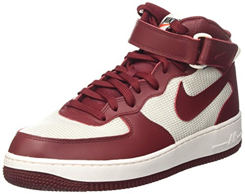 da White Summit Force '07 Scarpe Rosso Basket Nike 1 Mid Team Uomo Air Red YK7Tqqf
