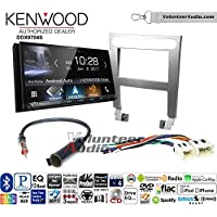 Volunteer Audio Kenwood DDX9704S Double Din Radio Install Kit with Apple Carplay Android Auto Fits 2004-2006 Nissan Maxima (Without Bose)