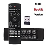 REDGO Air Mouse, 2.4G Backlit Backlight Remote Control, Mini Wireless Keyboard & infrared Remote Control Learning, Best For Android Smart TV Box HTPC IPTV PC Pad XBOX Windows iOS MAC