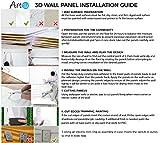 Art3d Plastic 3D Wall Panel PVC Wave Wall