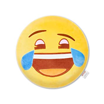 Emoji Cojín Bordado Lágrimas Oficial PIW_Laugh_EB: Amazon.es ...