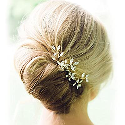Venusvi Wedding Hair Pin Decorative hair accessories for Bridal(Pack of two) (Silver)