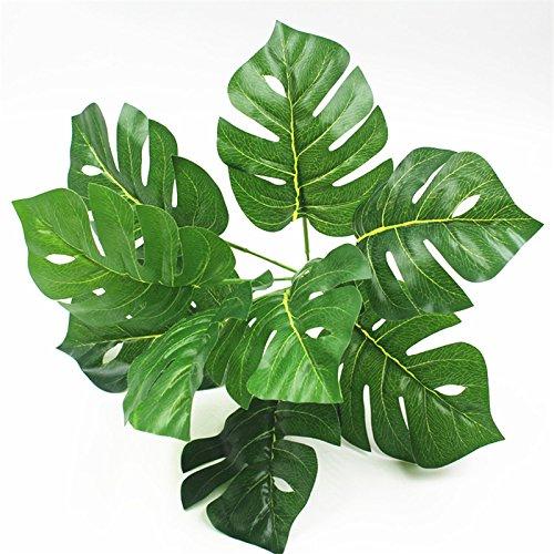 Gespout Plante Artificielle Faux Grande Feuille Fern Feuilles de Plastique /étanche arbustes pour ext/érieur Maison Table de Cuisine Bureau D/écorations