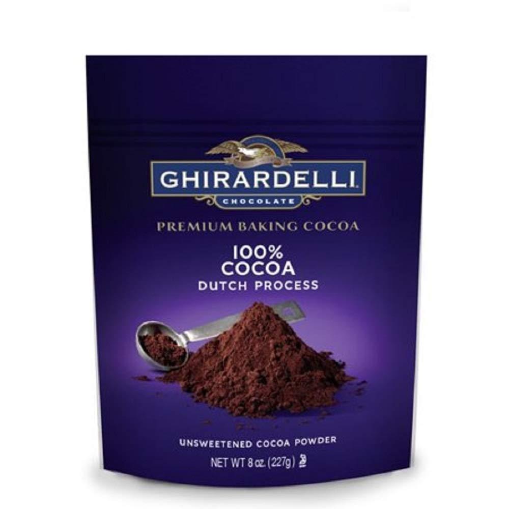 Ghirardelli Unsweetened Dutch Process Cocoa Pouch, 8 oz