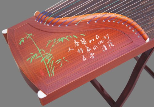 Professional Performing Carved Sandalwood Guzheng Instrument Chinese Zither Harp by Sound-Of-Mountain