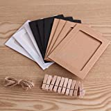 10pcs Hanging Paper Photo Film Frame 6 inch Album Picture w.Clips Hemp Rope