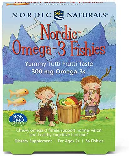 Nordic Naturals Omega-3 Fishies Supports Optimal Brain and Immune Function, 36 Count