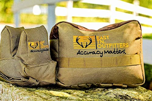 East Tennessee Outfitters Tactical Shooting Bags for Rifles Set Bench Rest Gun Rifle Hand Gun Sighting Support Bag Front and Rear Unfilled Tn.