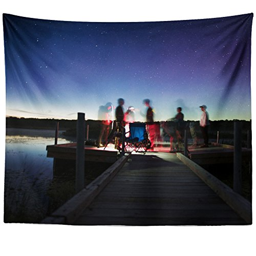 Westlake Art - Wall Hanging Tapestry - Sky Night - Photography Home Decor Living Room - 26x36in (Galaxy Bench Therapy)