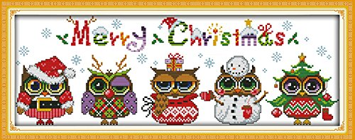 Astitch Stamped Cross Stitch Kits 11CT Cute Design Fabric Ch