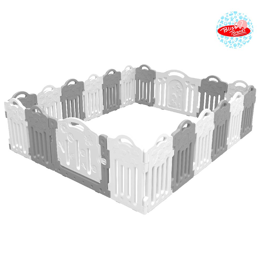 Baby Playpen, Kids Activity Center Safety Play Yard Fence 18 Dino Panels 2 Free Gates Large Portable Children s Dinosaur Fence for Indoor Outdoor Use